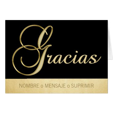 Professional Business Personalizado elegante GRACIAS negro oro Card