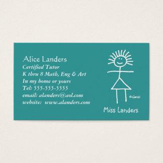 Personalizado elemental de la tarjeta de visita