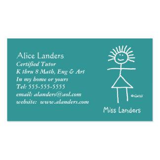 Personalizado elemental de la tarjeta de visita de