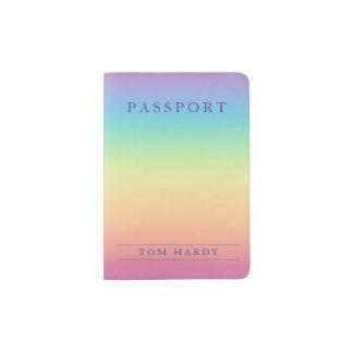 Personalizado en colores pastel de Ombre del arco Porta Pasaportes