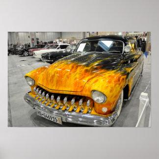 Personalizado en el poster del coche del fuego