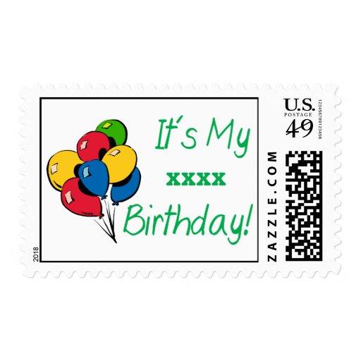 ¡Personalizado es mi cumpleaños XXX! (Verde de los Sellos