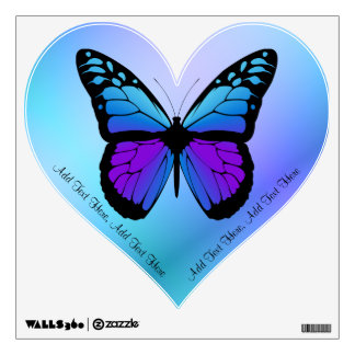 Personalizado: Etiqueta de la pared de la mariposa Vinilo Adhesivo