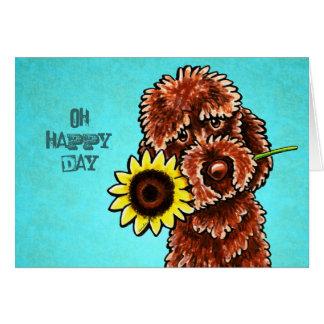 Personalizado feliz del día del girasol de tarjeta de felicitación