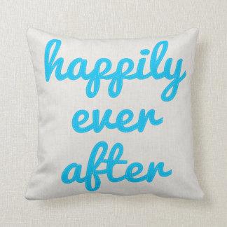Personalizado feliz nunca después de coser cojín