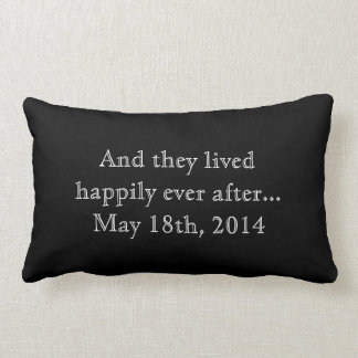 Personalizado feliz nunca después de recuerdo del  almohada