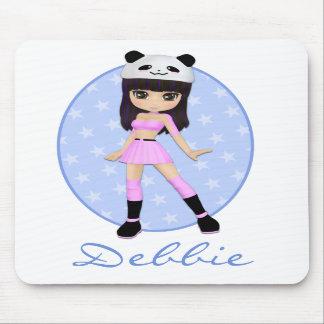 Personalizado femenino Mousepad de Debbie del chic Tapete De Ratón