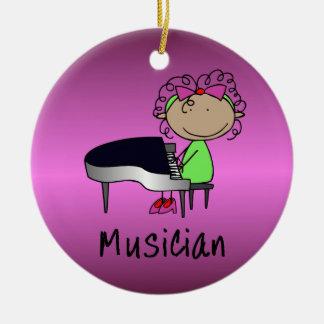 Personalizado femenino profesional del músico del  ornamentos de reyes
