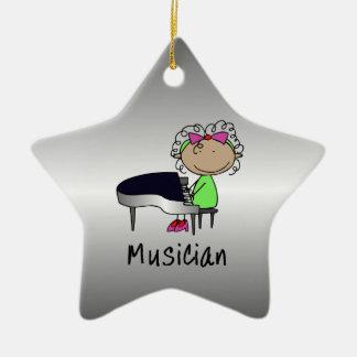 Personalizado femenino profesional del músico del  adorno para reyes