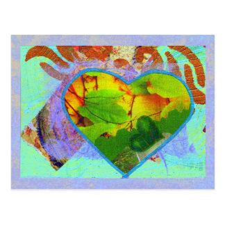 Personalizado frondoso del corazón postal