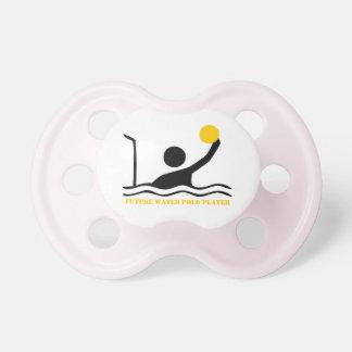Personalizado futuro de la silueta del negro del j chupetes para bebes