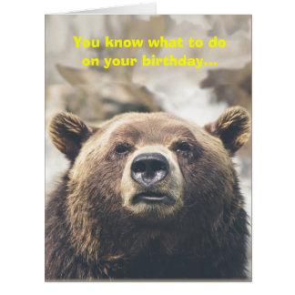 Personalizado gigante del retruécano del oso de la tarjeta de felicitación grande
