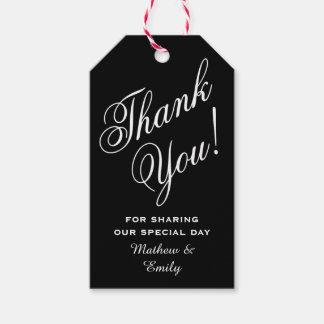 Personalizado gracias favor del boda etiquetas para regalos