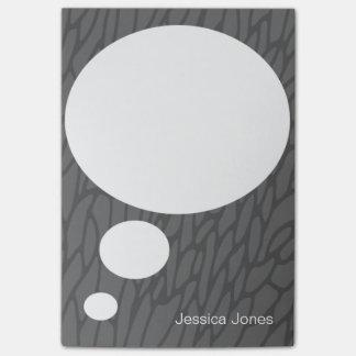 Personalizado gris personalizado redondeado burbuj post-it nota