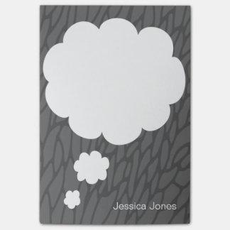 Personalizado gris personalizado redondeado burbuj nota post-it