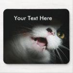 Personalizado grosero y refranes del gato alfombrilla de ratón