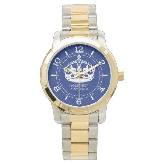 Personalizado guarde el icono tranquilo de la reloj de mano