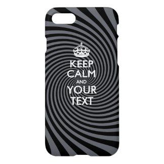 Personalizado GUARDE la CALMA Y su texto Funda Para iPhone 7