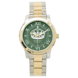 Personalizado guarde la corona tranquila en la reloj de mano