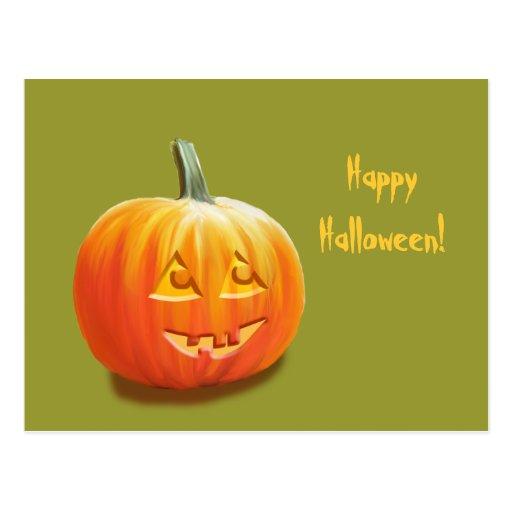 Personalizado Halloween de Jack O'Lantern Postal