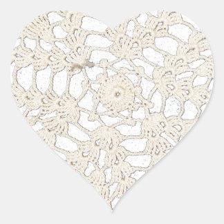Personalizado Handcrafted antigüedad del encaje de Pegatina En Forma De Corazón