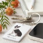 Personalizado hermoso de la foto del perro del dog llaveros