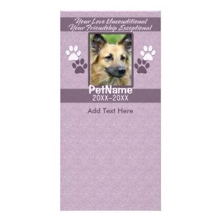 Personalizado incondicional de la condolencia del  tarjeta fotográfica personalizada