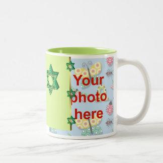 Personalizado judío de la foto del día de fiesta d taza de café