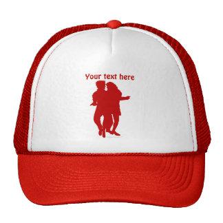 Personalizado latino de la silueta de los bailarin gorras