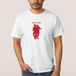 Personalizado latino de la silueta de los camisas