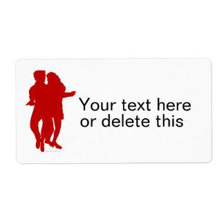 Personalizado latino de la silueta de los etiqueta de envío