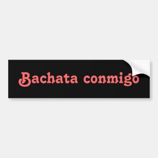 Personalizado latino del baile de la salsa de Bach Pegatina De Parachoque