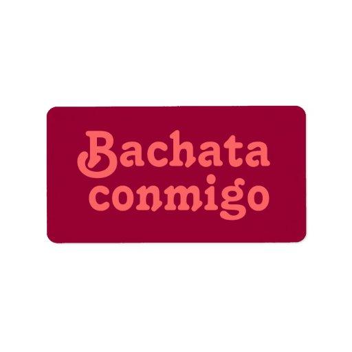 Personalizado latino del baile de la salsa de Bach Etiqueta De Dirección
