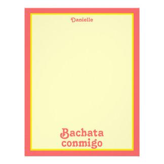 Personalizado latino del baile de la salsa de Bach Membrete A Diseño