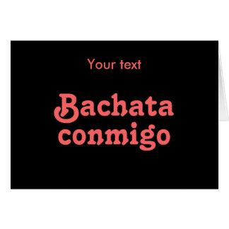 Personalizado latino del baile de la salsa de Bach Tarjetón