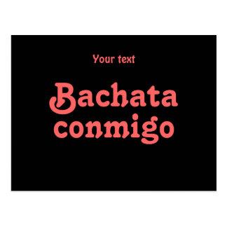 Personalizado latino del baile de la salsa de Bach Postales
