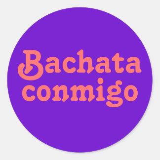Personalizado latino del baile de la salsa de pegatinas redondas