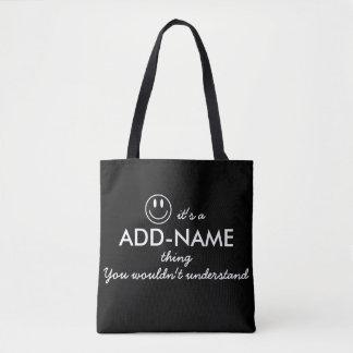 Personalizado le no entendería bolsa de tela