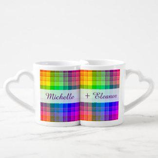Personalizado lesbiano gay de la tela escocesa del tazas amorosas