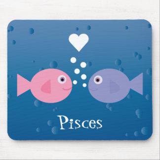 Personalizado lindo de los pescados de Piscis del Tapetes De Ratones