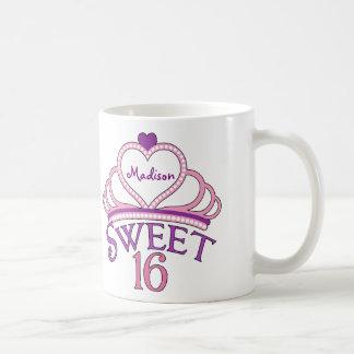 Personalizado lindo del dulce dieciséis taza clásica