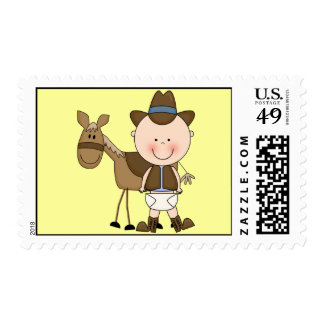 Personalizado lindo del potro del bebé y del sello
