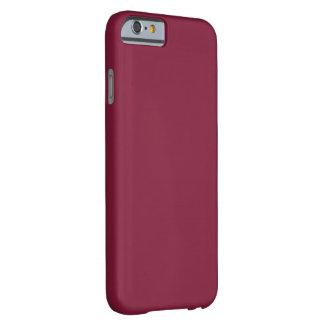 Personalizado llano simple del color sólido de funda para iPhone 6 barely there