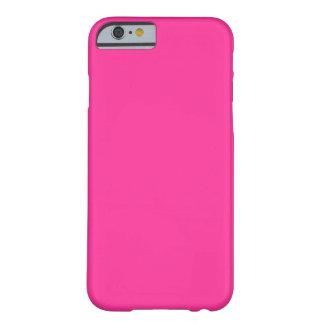 Personalizado llano simple del color sólido de las funda de iPhone 6 barely there