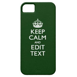 Personalizado MANTENGA TRANQUILO Y corrija el verd iPhone 5 Case-Mate Coberturas