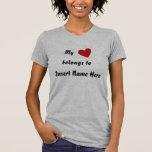 Personalizado, mi, pertenece, el nombre del parte camiseta