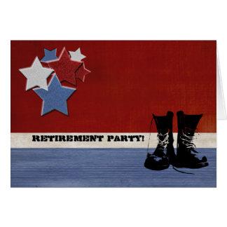 Personalizado militar del fiesta de retiro tarjeta de felicitación