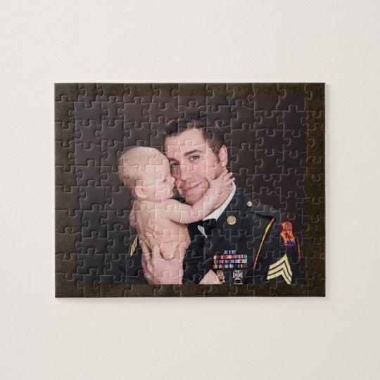 Personalizado militar del soldado personalizado puzzle