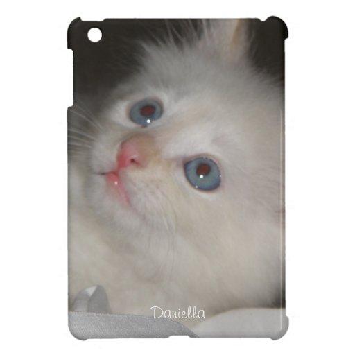 Personalizado: Mini caso del iPad blanco del gatit iPad Mini Protector