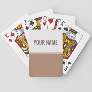 Personalizado moderno de Brown de la moca de las Cartas De Póquer